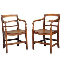 Pair of 19th Century Fruitwood Armchairs