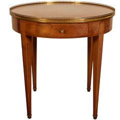 Antique French Walnut Bouillotte Table