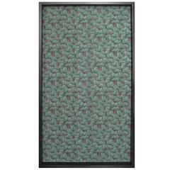 Framed 19th Century Floral Wallpaper Panel - Velvet Musk