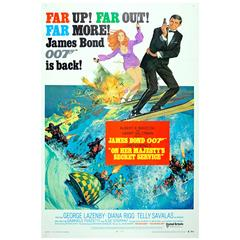 "Original Vintage 007 James Bond Movie Poster ""On Her Majesty's Secret Service"""