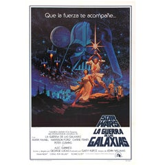 Original Vintage 1977 Iconic Star Wars Movie Poster By The Hildebrandt Brothers