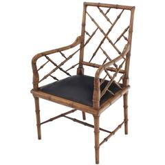 Faux Bamboo Decorative Desk Chair