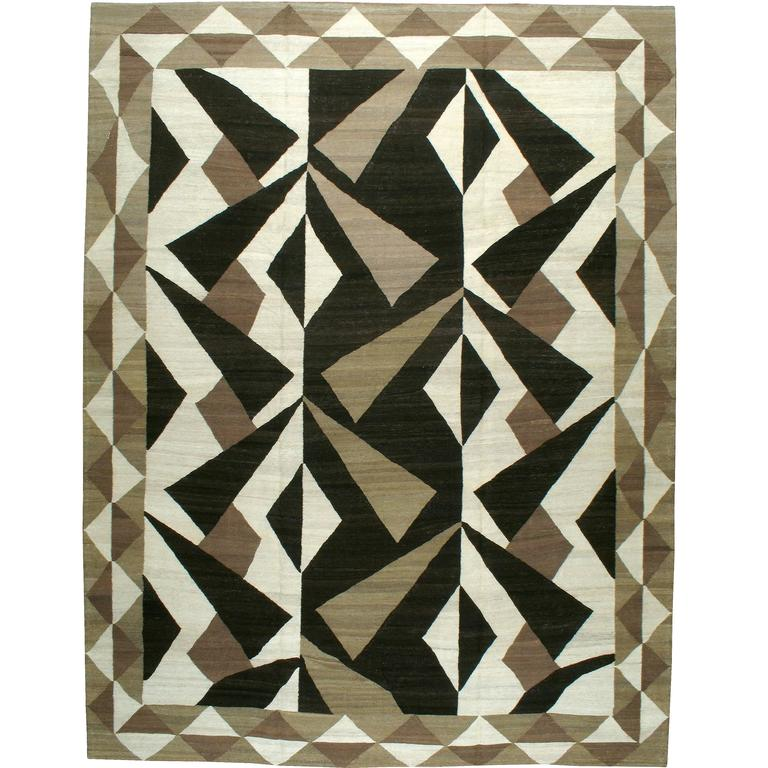Modern Persian Flat-Weave Kilim Style Rug For Sale At 1stdibs