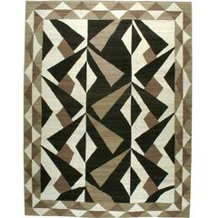 Modern Persian Flat-Weave Kilim Style Rug