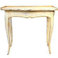 Small Provençal Painted Side Table with Single Drawer