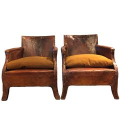 Pair of Leather Chairs, circa 1930