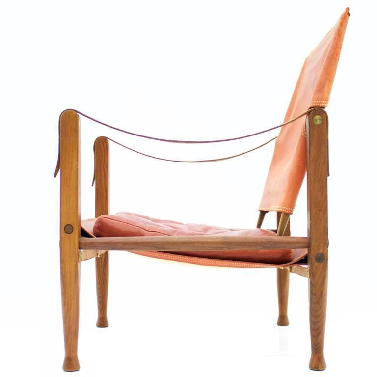 Safari Chair by Kaare Klint by Rud Rasmussen, Denmark