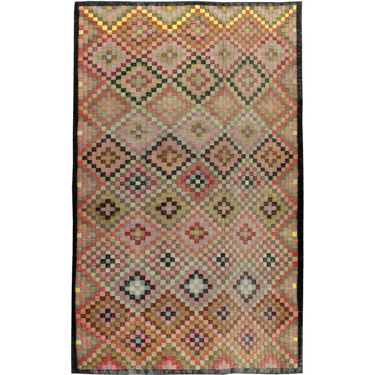 Vintage Persian Kilim Flat-Weave For Sale
