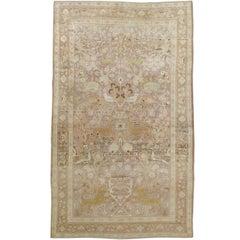 Antique Persian Khorassan Pictorial Rug