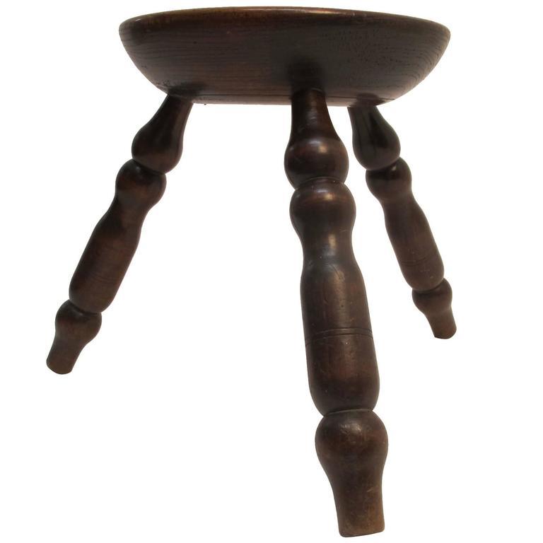 19th Century English Oak Stool