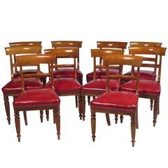 Set of Ten Regency Side Chairs, 6+4, circa 1820
