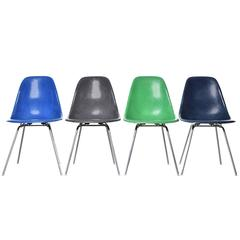 Set of Four Eames DSX Herman Miller USA Chairs
