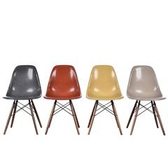 Set of Four Eames DSW Herman Miller USA Chairs
