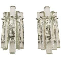 Kinkeldey Ice Stick Crystal Wall Sconces