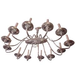 Neoclassic Style Oval Chandelier