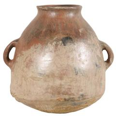 Mid-19th Century Spanish Colonial Jar with Two Handles, Made of Clay