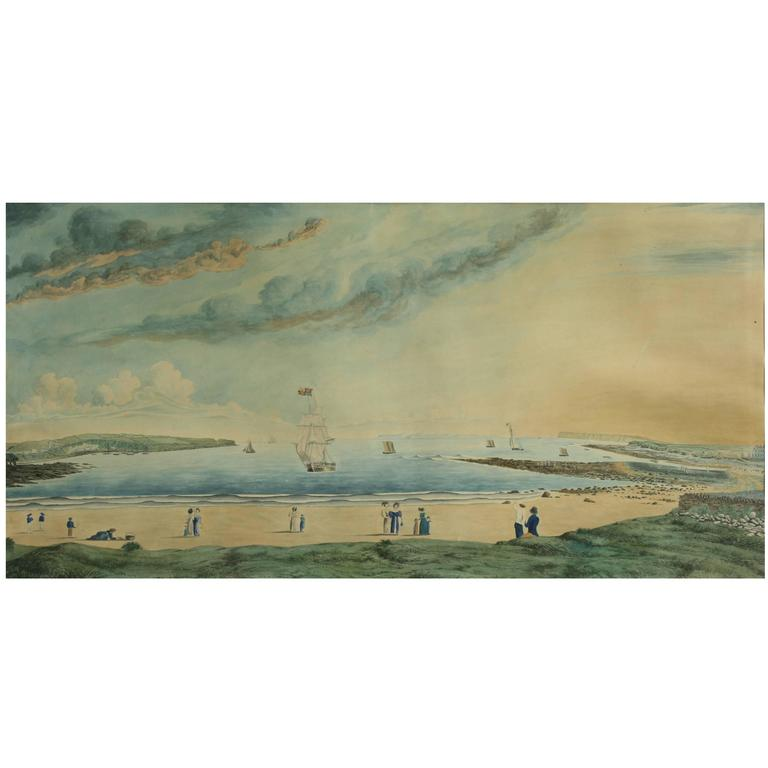 Young Golfers, Thurso Bay Painting
