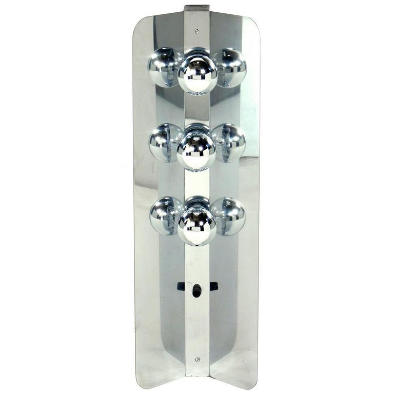 Sleek Chrome Table Lamp with Mirrored Bulbs