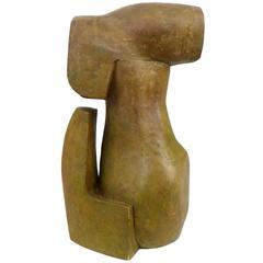 Abstract Faux-Bronze Cast-Fiberglass Sculpture