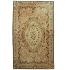 Vintage Chinese Aubusson Palace Size Rug with European Charm