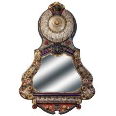 Mid-20th Century Murano Glass Mirror with light on top