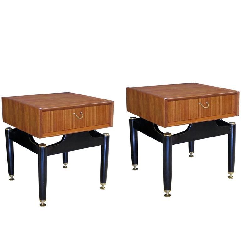 Cool pair of english mid century g plan tola librezza for Cool side tables