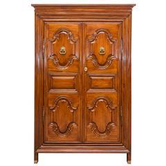 Antique Indo-Dutch or Dutch Colonial Satinwood Cupboard