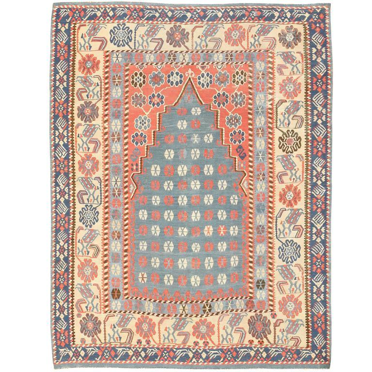 Antique Turkish Kilim Rug For Sale
