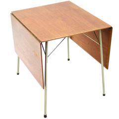 Teak Drop Leaf Dining Table by Arne Jacobsen, Fritz Hansen, 1952