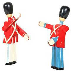 Pair of Vintage Hand-Painted Danish Royal Guard Soldiers by Kay Bojesen