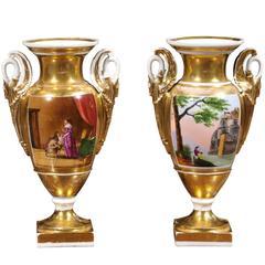 Pair of Porcelain of Paris, Urns, circa 1820