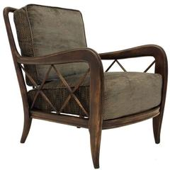 Italian Wooden Armchair by Paolo Buffa, 1940s