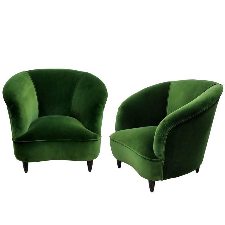 Pair of Large Parisi Lounge Chairs