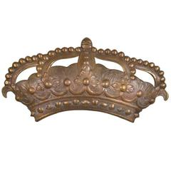 Antique 19th Century Bronze Crown Mold