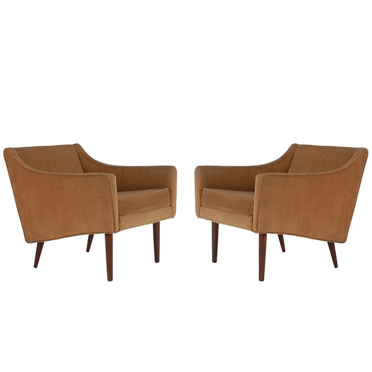 Mid-Century Modern Lounge Club Chairs after Paul McCobb or Edward Wormley