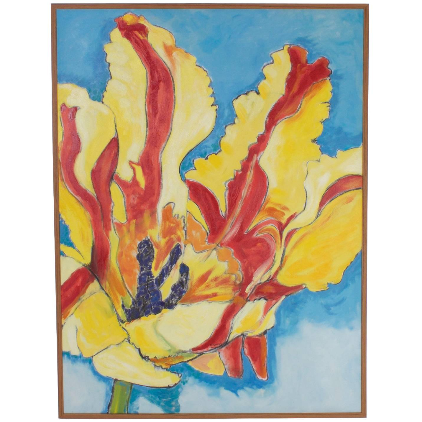 Modern Floral Oil Painting