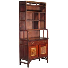 E W Godwin An Important Anglo-Japanese Bookcase Painted by Henry Stacy Marks