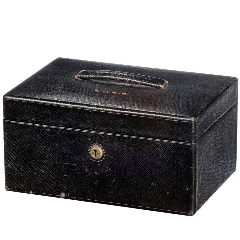 Late 19th Century Leather Jewelery Box