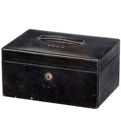 Late 19th Century Leather Jewelery Box