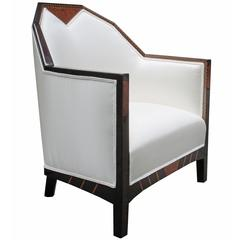 Fine Pair of Cubist Armchairs from the Hotel La Mamounia