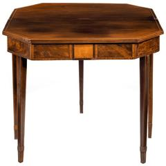 George III Period Mahogany Tea Table
