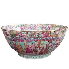 Large 19th Century Famille Rose Chinese Export Bowl