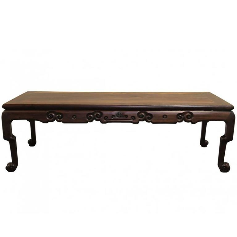 Antique Chinese Rosewood Coffee Table At 1stdibs