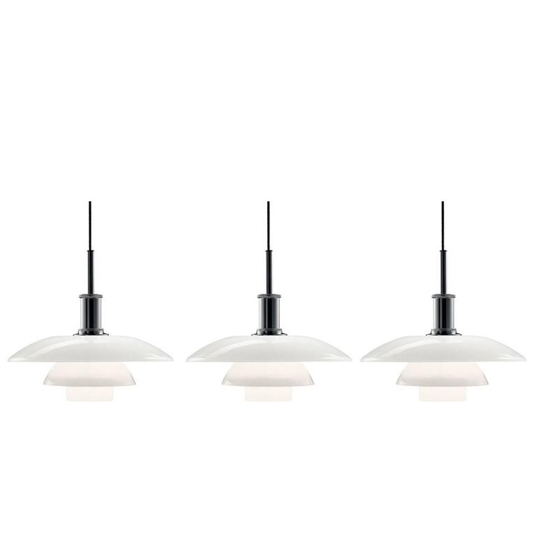 Poul Henningsen PH 4½-4 Glass Pendants for Louis Poulsen