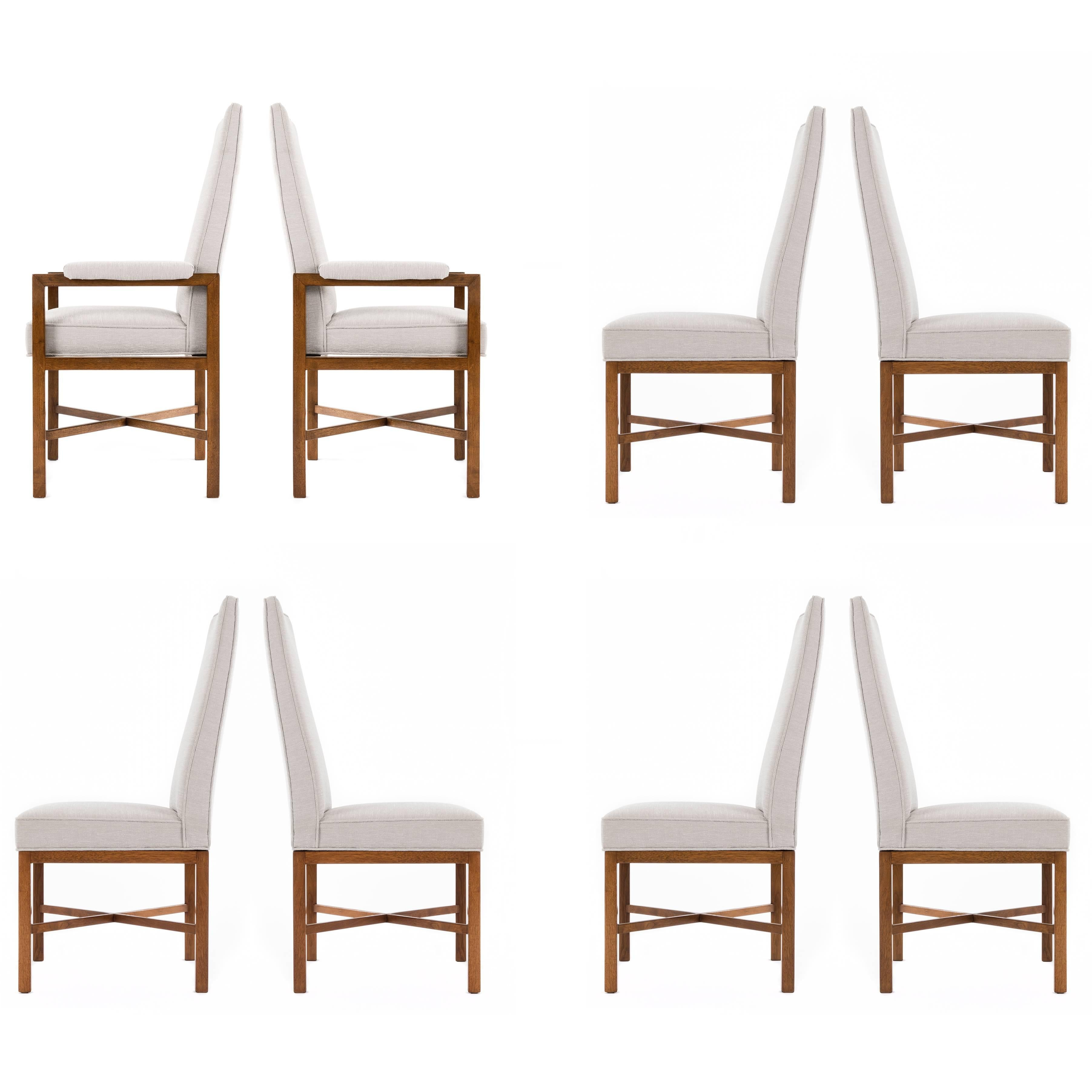 Edward Wormley Set of Eight Dining Chairs for Dunbar
