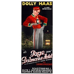 "Large Original Movie Poster For ""The Page From The Dalmasse Hotel"" Dolly Haas"