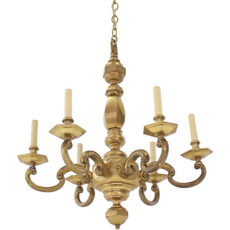 Heavy Solid Brass Light Fixture by Chapman