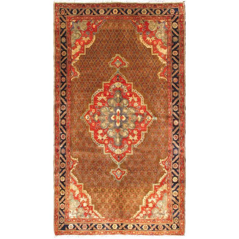 Vintage Persian Camel Hair Hamadan Rug For Sale At 1stdibs