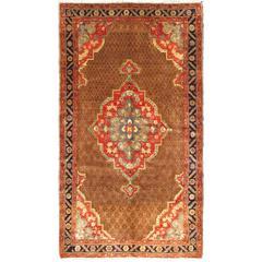 Vintage Persian Camel Hair Hamadan Rug