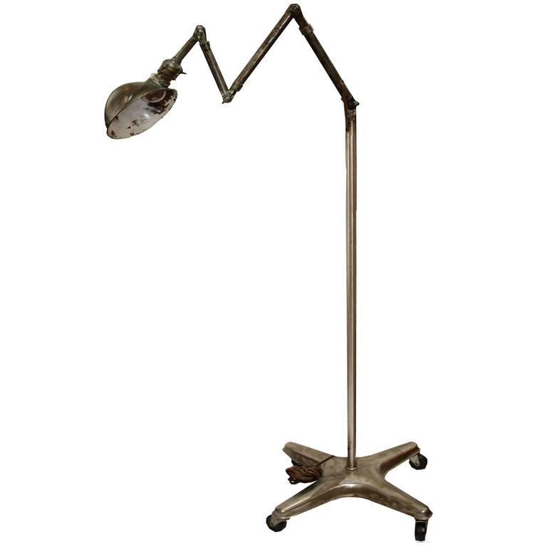 Industrial articulated floor lamp at 1stdibs for Led articulated floor lamp
